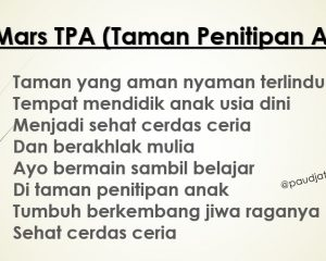 lirik mars tpa instrumen mars tpa mp3 syair mars tpa download lagu mars tpa