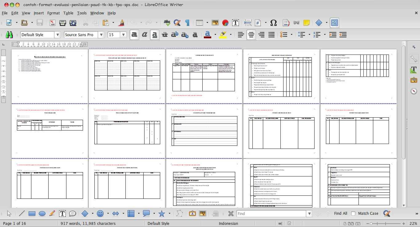 Download Contoh Evaluasi Dan Penilaian Paud Tk Kb Tpa Sps Paud Jateng