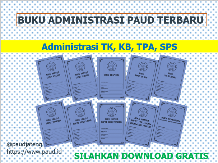 Download Buku Administrasi Paud Tk Kb Tpa Sps Gratis