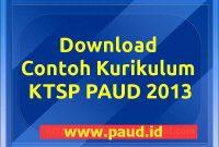 Contoh Dokumen TKSP PAUD TK 2013