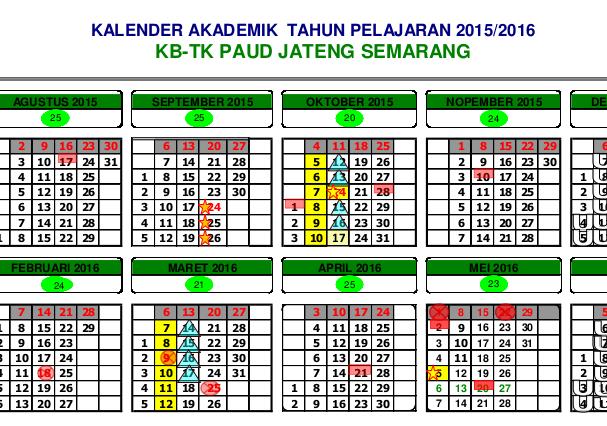 Contoh Kalender Pendidikan Paud 2015 2016 Full Download
