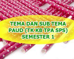tema dan subtema paud semester 1 download disini