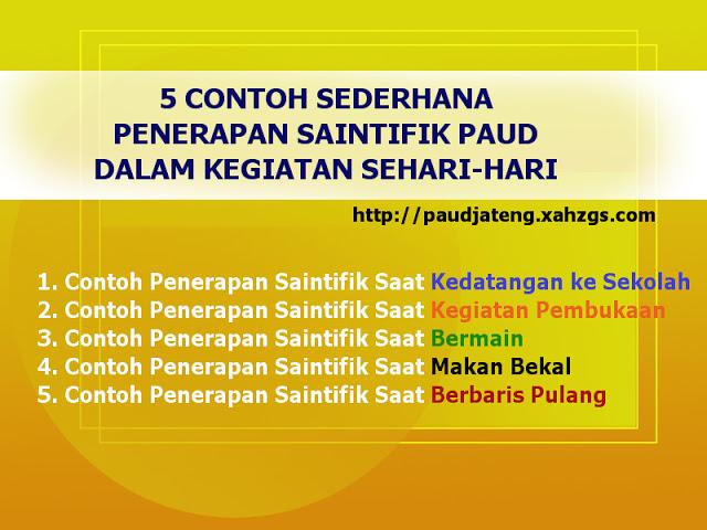 Inilah 5 Contoh Sederhana Penerapan Saintifik PAUD Kurikulum 2013 dalam kegiatan Sehari Hari di sekolah PAUD.