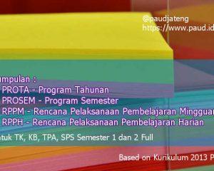 download perangkat pembelajaran paud bahan ajar paud kurikulum 2013 download kumpulan prota prosem rppm rpph