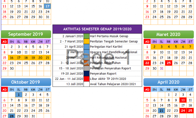 Download Kalender Pendidikan 2019/2020 PAUD/TK